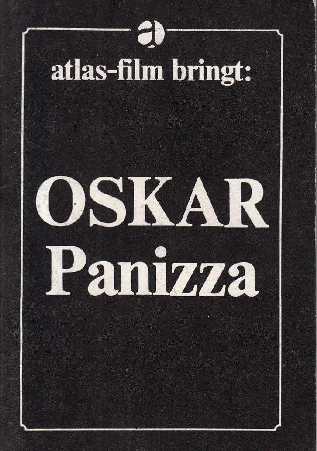 Oskar Panizza: Moralist und Märtyrer.: Panizza, Oskar