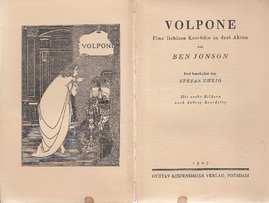 Volpone: Eine lieblose Komödie in drei Akten.: Jonson, Ben