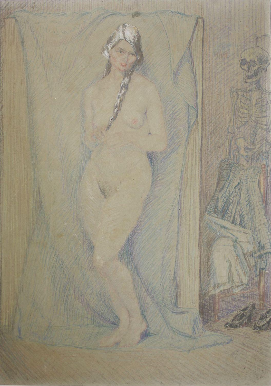Er lies sich nackt malen Nude Photos 2