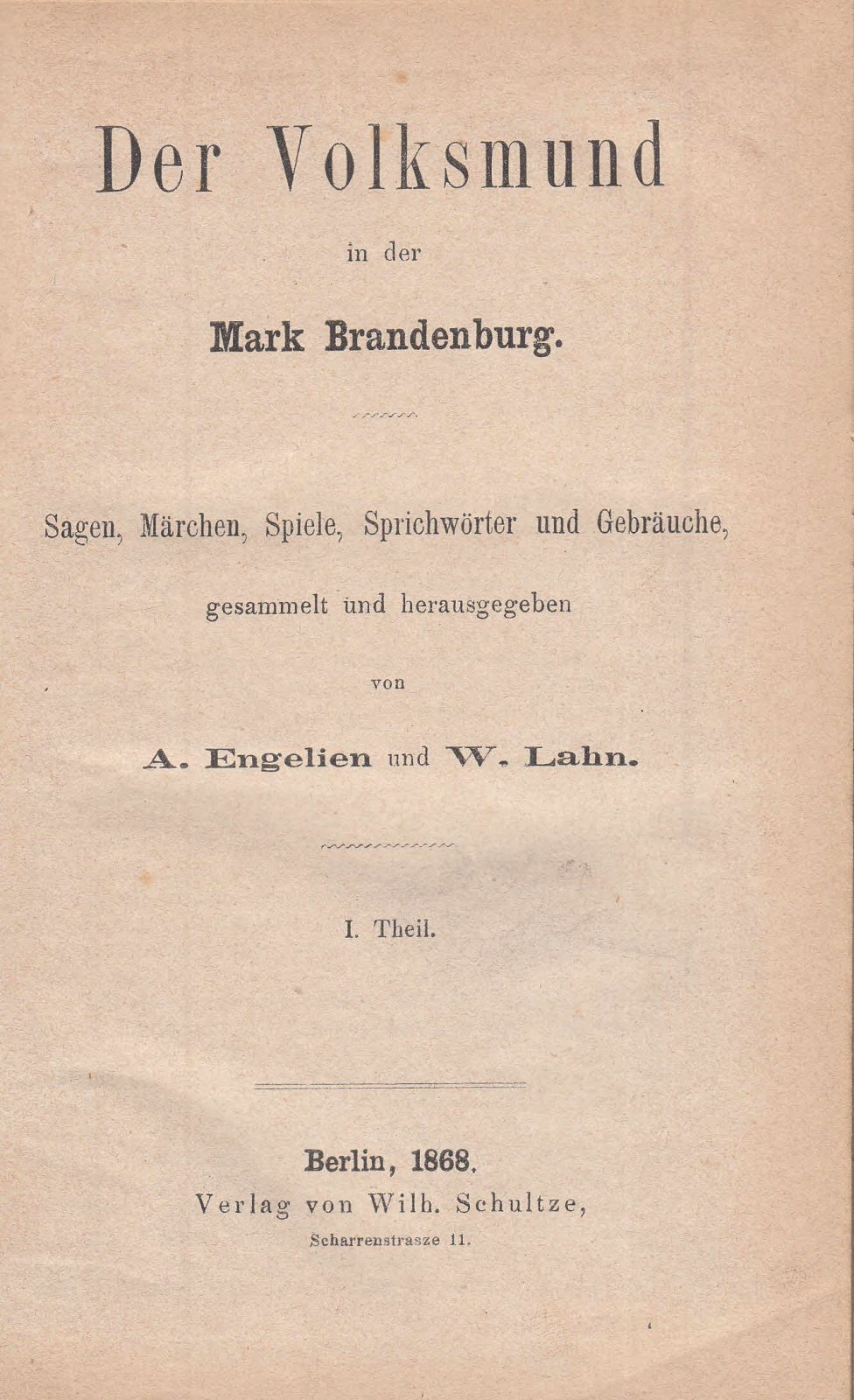 Der Volksmund In Der Mark Brandenburg Sagen