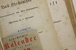 [Sammelband mit lübeckischen Schriften - um 1849]. -