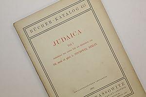Judaica Teil I. Enthaltend u.a. den ersten Teil der Bibliothek von Dr. med. et phil. E. Pinczower, ...