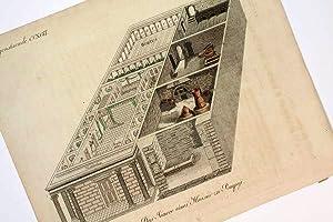 Vermischte Gegenstaende CCXCVI. - Das Innere eines Hauses zu Pompeji - altkolorierter Kupferstich]....