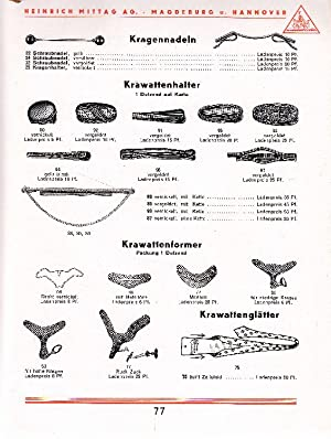 Heinrich Mittag: Kurzwaren-Katalog. Ausgabe D. -