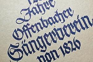 Festschrift zur 125 Jahrfeier des Offenbacher Sängervereins von 1826: Mit Programm zum ...