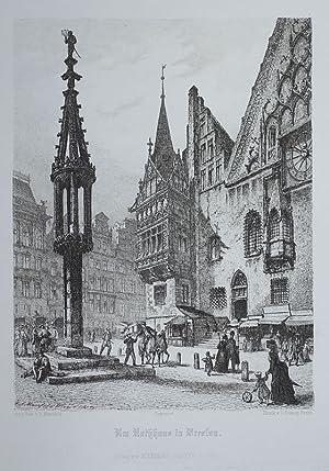Am Rathhaus in Breslau.: Mannfeld, Bernhard