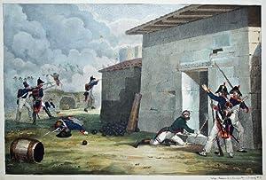Angriff des Schlosses Villiena. -