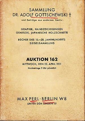 Sammlung Dr. Adolf Gottschewski und Beiträge aus anderem Besitz. Graphik, Handzeichnungen, Gemälde,...