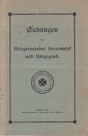 Satzungen des Kriegervereins Herrenwyk und Umgegend.