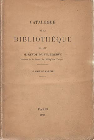 Catalogue des Livres Manuscrits et Imprimés des