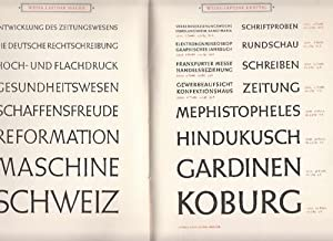 Weiß-Schriften nach Entwürfen von Professor E.R. Weiß: Weiß, Emil Rudolf