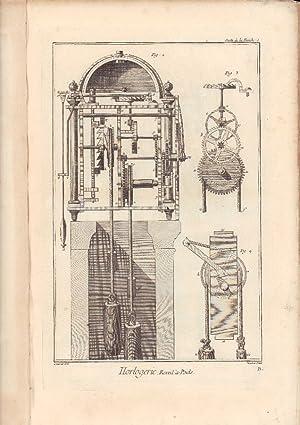 Horlogerie. - [Uhrmacherhandwerk: 64 Kupferstiche aus der: Diderot, Denis und
