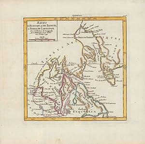 Bayes d'Hudson et de Baffins et Terre de Labrador. -: Vaugondy, St. Robert de: