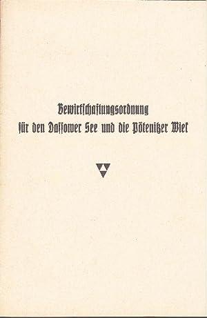 Bewirtschaftungsordnung für den Dassower See und die Pötenitzer Wiek. -