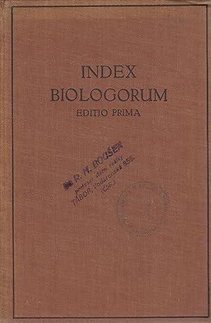 Index biologorum: Investigatores. Laboratoria. Periodica. -: Hirsch, Chr. (Hg.):