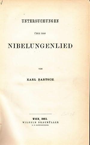 Untersuchungen über das Nibelungenlied.: Bartsch, Karl