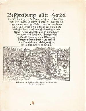 Beschreibung aller Hendel die sich anno 1527 zu Rom verloffen wie die Statt von des Röm. Kaysers ...