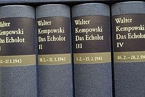 Das Echolot: Ein kollektives Tagebuch. Januar und Februar 1943 - [4 Bände]. -: Kempowski, Walter: