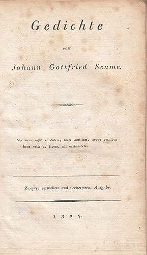 Gedichte. -: Seume, Johann Gottfried: