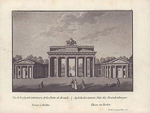 Ansicht der inneren Seite des Brandenburger Thors zu Berlin. -