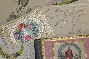 [Stammbuch-Kassette eines Mädchens aus Altona - um 1855]. -
