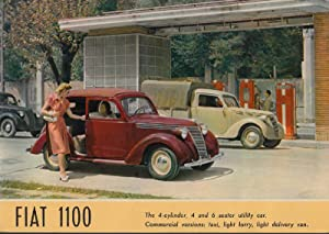 Fiat 1100. The 4-Cylinder, 4 and 6 seater Utility Car. Commercial Versions: Taxi, Light Lorry, ...