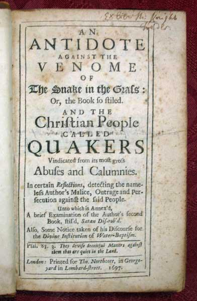 History of the Quakers