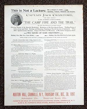 "CAPTAIN JACK CRAWFORD, ""The POET SCOUT,"" In: Crawford, Jack [John"