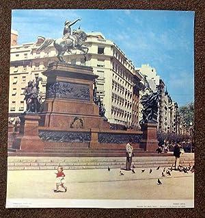 FEDERAL CAPITAL. Libertador San Martin Square - Monument to the General San Martin. International ...
