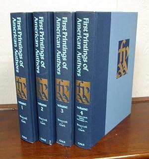 FIRST PRINTINGS of AMERICAN AUTHORS: Bruccoli, Matthew J.