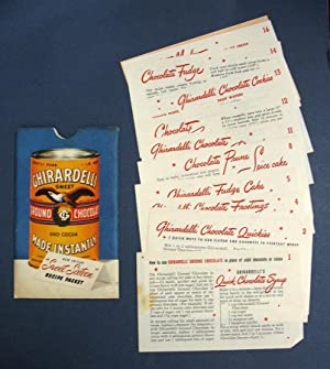 "GHIRARDELLI CHOCOLATE COMPANY ""SWEET SIXTEEN"" RECIPE PACKET: Ghirardelli Chocolate ..."