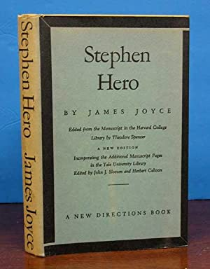 STEPHEN HERO. Edited from the Manuscript in: Joyce, James. Spencer,