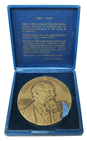 FIFTHIETH ANNIVERSARY COMMEMORATIVE MEDALLION. 1882 - 1932: Dickens, Charles [1812 - 1870]. Sessler...