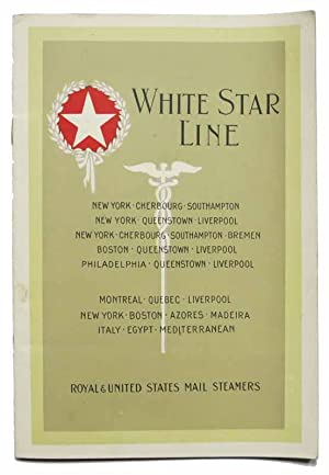 WHITE STAR LINE. S. S. PITTSBURGH. From New York Tuesday, August 19, 1924. To Hamburg via Cherbourg...