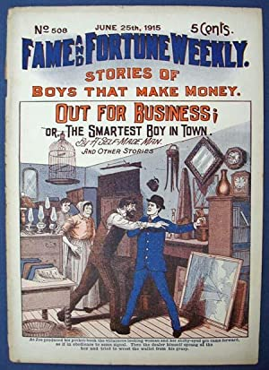 OUT FOR BUSINESS; or, The Smartest Boy: Dime Novel]. 'By