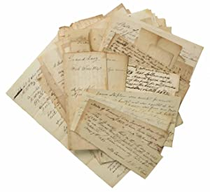 LOT Of ~100 JACKSON CIRCUIT COURT MS LEGAL DOCUMENTS, 1823 - 1841