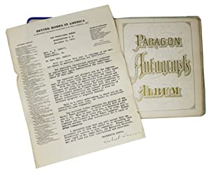 PARAGON AUTOGRAPHS ALBUM: Autograph Album]
