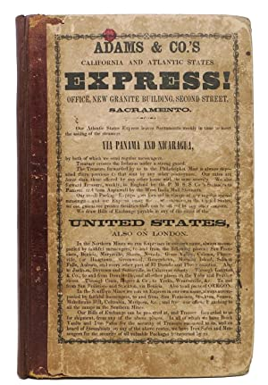 The SACRAMENTO DIRECTORY, For the Year 1853 - 54, Embracing a General Directory of Citizens,; An ...