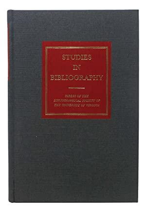 STUDIES In BIBLIOGRAPHY. Volume Sixty. 2018