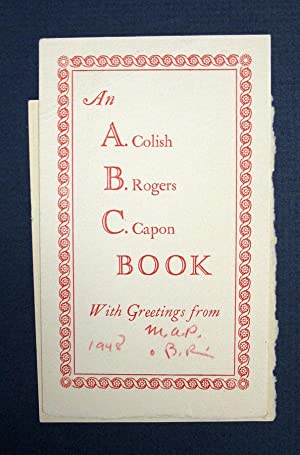 An A. B. C. Colish Rogers Capon BOOK. With Greeting From