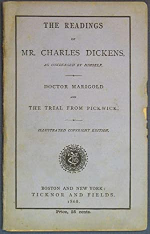 The READINGS Of MR. CHARLES DICKENS, As: Dickens, Charles [1812