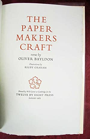 The PAPER MAKERS CRAFT. Verse