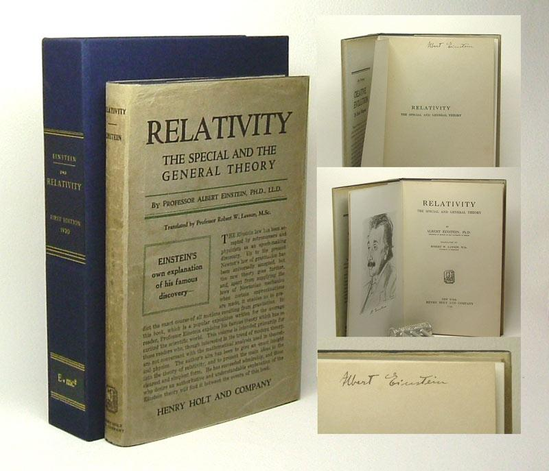 RELATIVITY. The Special And The General Theory. Signed: Einstein, Albert