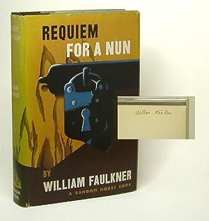 REQUIEM FOR A NUN. Signed: Faulkner, William.