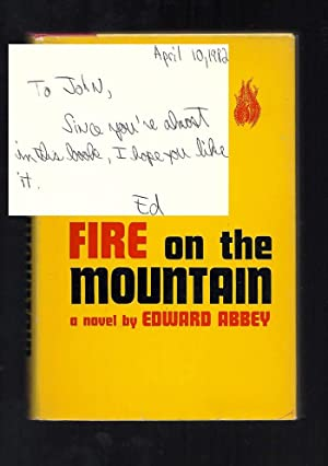 FIRE ON THE MOUNTAIN. Signed: Abbey, Edward