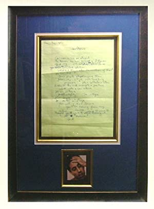 Original Manuscript Display: Seinfeld, Jerry