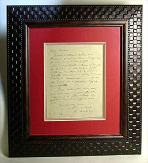 Autographed Letter: Matisse, Henri