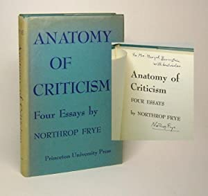 northrop frye anatomy of criticism four essays The four essays address modes, symbols, myths, and genres, corresponding respectively to what frye sees as the historical, ethical, archetypal, and rhetorical dimensions of literary expression in his view, the task of evaluating a particular poem or novel falls to the reviewer, while the critic brings to light those aspects of a work that situate it within the body of literature.