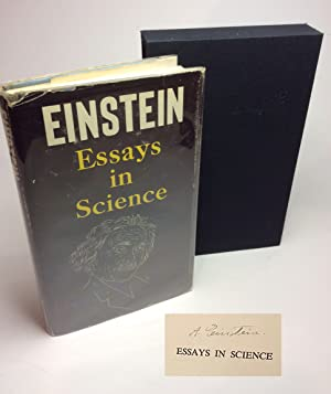 ESSAYS IN SCIENCE. Signed: Einstein, Albert