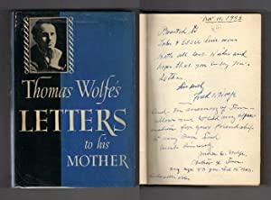 THOMAS WOLFE'S LETTERS TO HIS MOTHER. Edited: Wolfe, Thomas